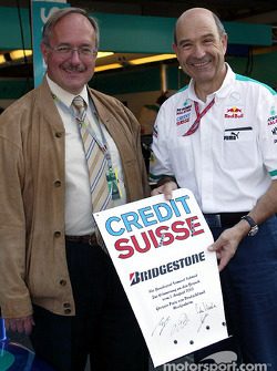 Peter Sauber with guest