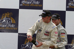 Champagne at the podium