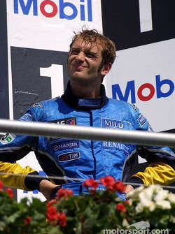 The podium: Jarno Trulli