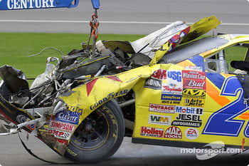 Kenny Wallace's wrecked car