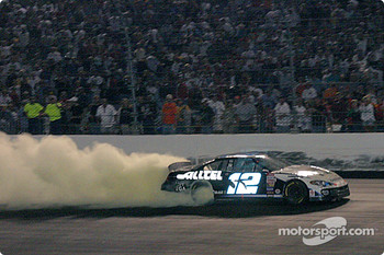 Ryan Newman's smoky celebration