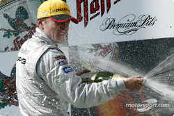 Podium: champagne for Marcel Fassler