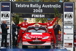Podium: Richard Burns and co-driver Robert Reid