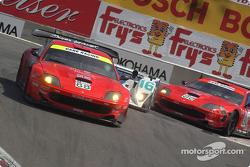 #88 Prodrive Ferrari 550 Maranello: Tomas Enge, Peter Kox