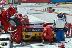 #28 JMB Racing USA/Team Ferrari Ferrari 360 Modena during a pit stop