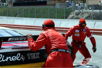 #29 JMB Racing USA/Team Ferrari Ferrari 360 Modena in for a pit stop