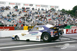 John Fiorini's 1996 Saab alcohol funny car got caught in its own oil and went for a spin