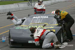 Pitstop for #38 Georgian Bay Motorsports Corvette: Jim Holton, Ted Martin, Stuart Hayner