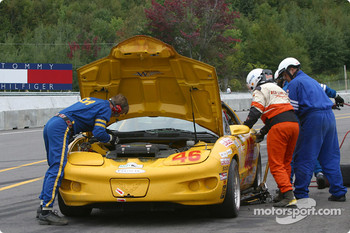 Pitstop for #46 Michael Baughman Racing Firebird: Frank DelVecchio, Michael Baughman