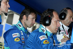 Heinz-Harald Frentzen watches the end of the race