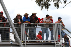 Fans grab every vantage point