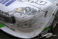 Damage on Tomy Drissi car