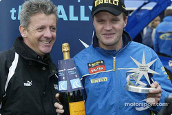 Tommi Makinen accepts Immarsat Start of the Rally award