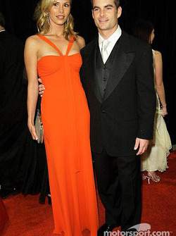 Jeff Gordon with his girlfriend