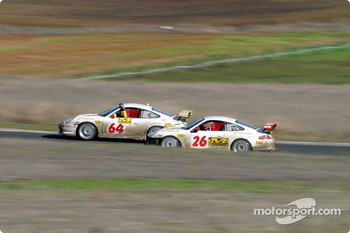 #64 & #26 Glen Yee Motorsports Porsche 996 GT3 Cup cars side by side