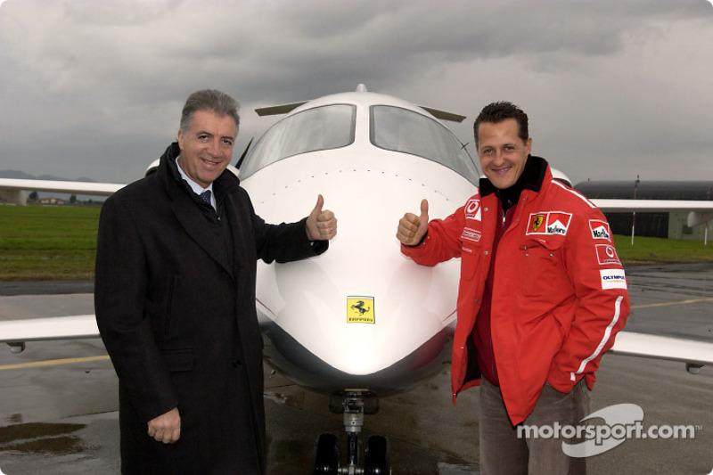 Piero Ferrari and Michael Schumacher
