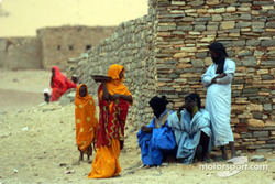 Mauritanians in a village