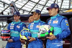 Neel Jani, Osamu Goto, Felipe Massa, Peter Sauber, Giancarlo Fisichella