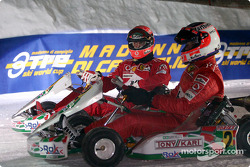 Kart race: Michael Schumacher and Rubens Barrichello
