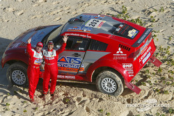 Stéphane Peterhansel and Jean-Paul Cottret celebrate overall win