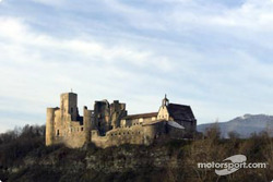 Ancient ruins of a French castle