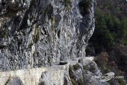 The Sigale - Col de Bleine stage features the famous Clues d'Aiglun