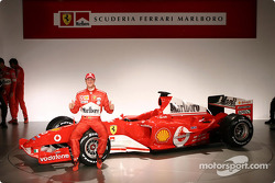 Michael Schumacher with the new Ferrari F2004