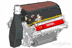 The new Ferrari F2004 engine