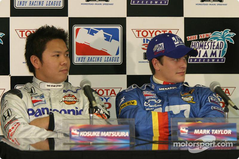 Rookies press conference: Kosuke Matsuura and Mark Taylor