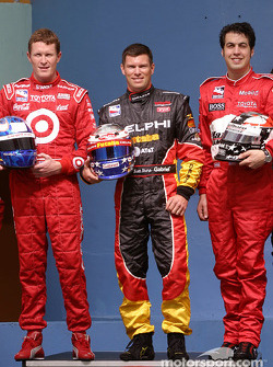 Photo shoot with IRL Toyota drivers: Scott Dixon, Scott Sharp and Sam Hornish Jr.