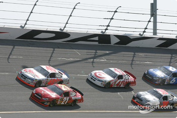 Ricky Rudd, Sterling Marlin, Casey Mears and Elliott Sadler