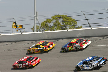 Kasey Kahne, Scott Wimmer, Greg Biffle and Mark Martin