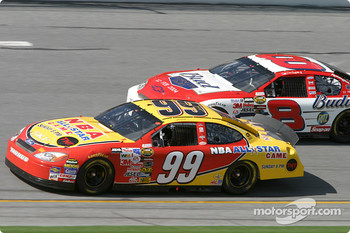 Jeff Burton and Dale Earnhardt Jr.