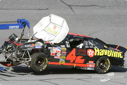 Jamie McMurray's wrecked car