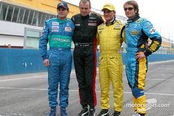 Giancarlo Fisichella, Gianmaria Bruni, Giorgio Pantano and Jarno Trulli