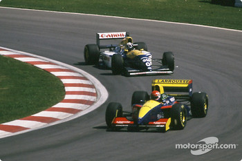 Erik Comas and Damon Hill