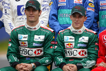 Drivers photoshoot: Mark Webber and Christian Klien