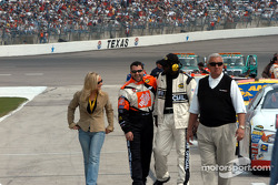Tony Stewart enjoying the pre-race