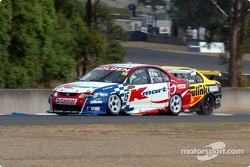 Rick Kelly slips down the inside