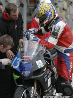 #13 Moto Club Gemenos Suzuki GSXR: Romain Bonvicini, Henri Fauque, Christophe Perrin