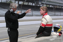 Rick Mears coaches true rookie Taylor Fletcher in his first Menards Infiniti Pro Series test