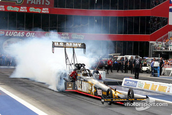 Tony Schumacher doing a burnout