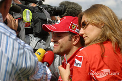 TV interviews for Rubens Barrichello