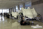 The Mercedes-Benz SLR McLaren production line