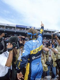 Jarno Trulli celebrates victory