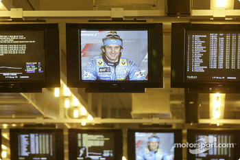 Press conference: Jarno Trulli on the monitor