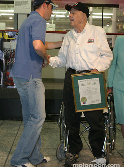 Papa Joe Hendrick award event: Jimmie Johnson and Papa Joe Hendrick
