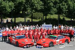 #65 Prodrive Racing Ferrari 550 Maranello: Colin McRae, Darren Turner, #66 Prodrive Racing Ferrari 550 Maranello: Alain Menu, Peter Kox, Tomas Enge