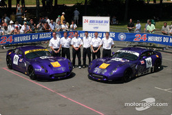 Team photo: Chamberlain Synergy Motor with drivers Bob Berridge, Gareth Evans, Nigel Greensall, Jonathan Coleman, Lawrence Tomlinson, Chris Stockton