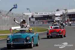 Drivers parade: Jenson Button
